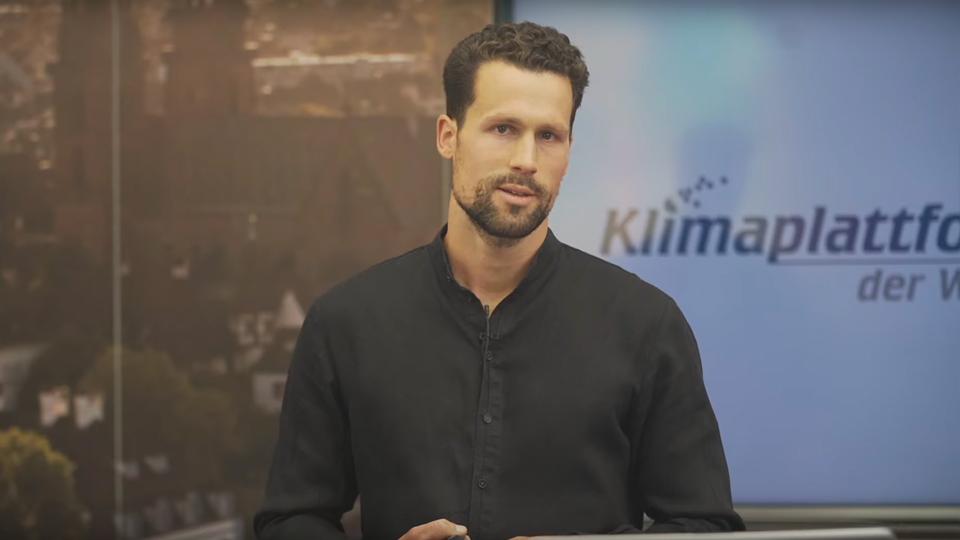 Philipp Voegelin beim Vortrag