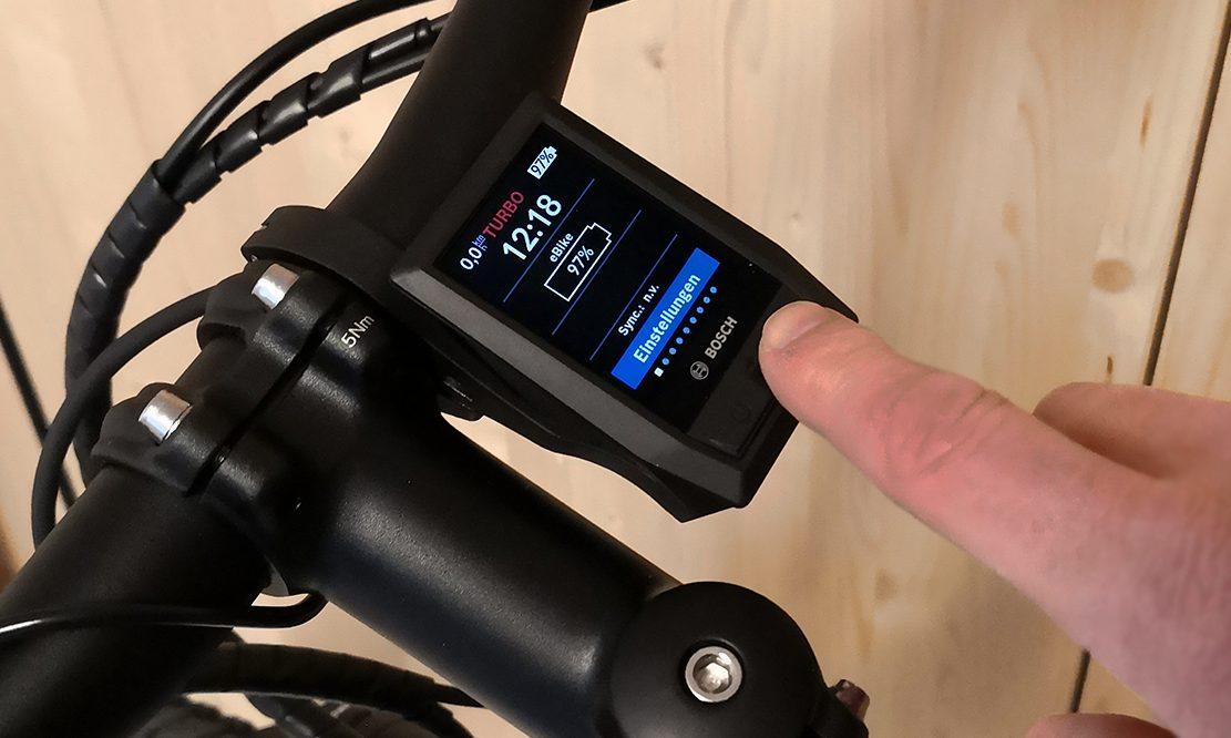 Bike-Computer mit Akku-Anzeige bei 97%